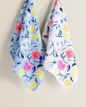 Кухонное полотенце с Цветочный принт (Двойной пакет)
