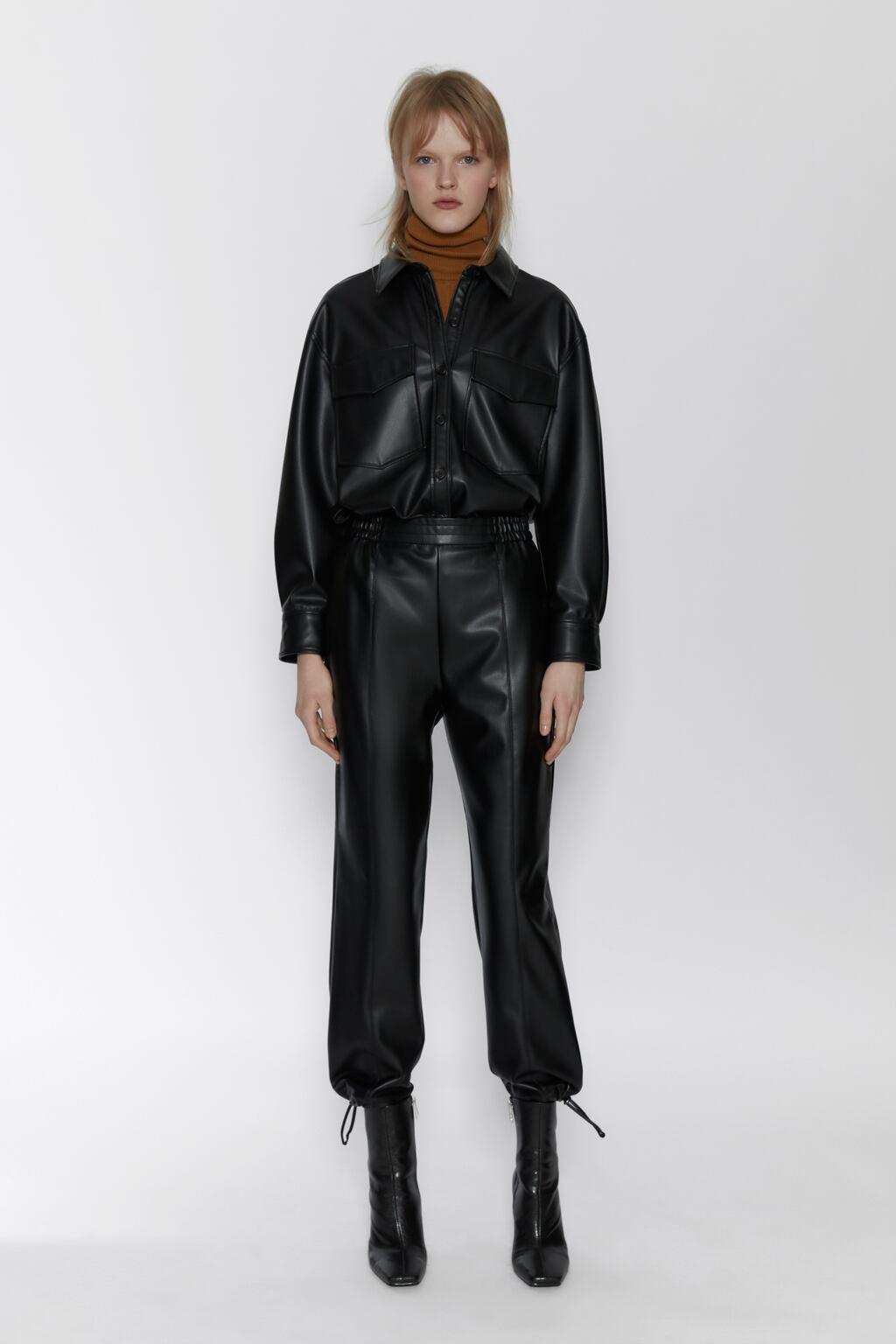 Отзыв на Спортивные штаны из искусственной кожи из Интернет-Магазина Zara