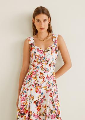 Отзыв на Цветочный узор Midi-Платье из Интернет-Магазина MANGO