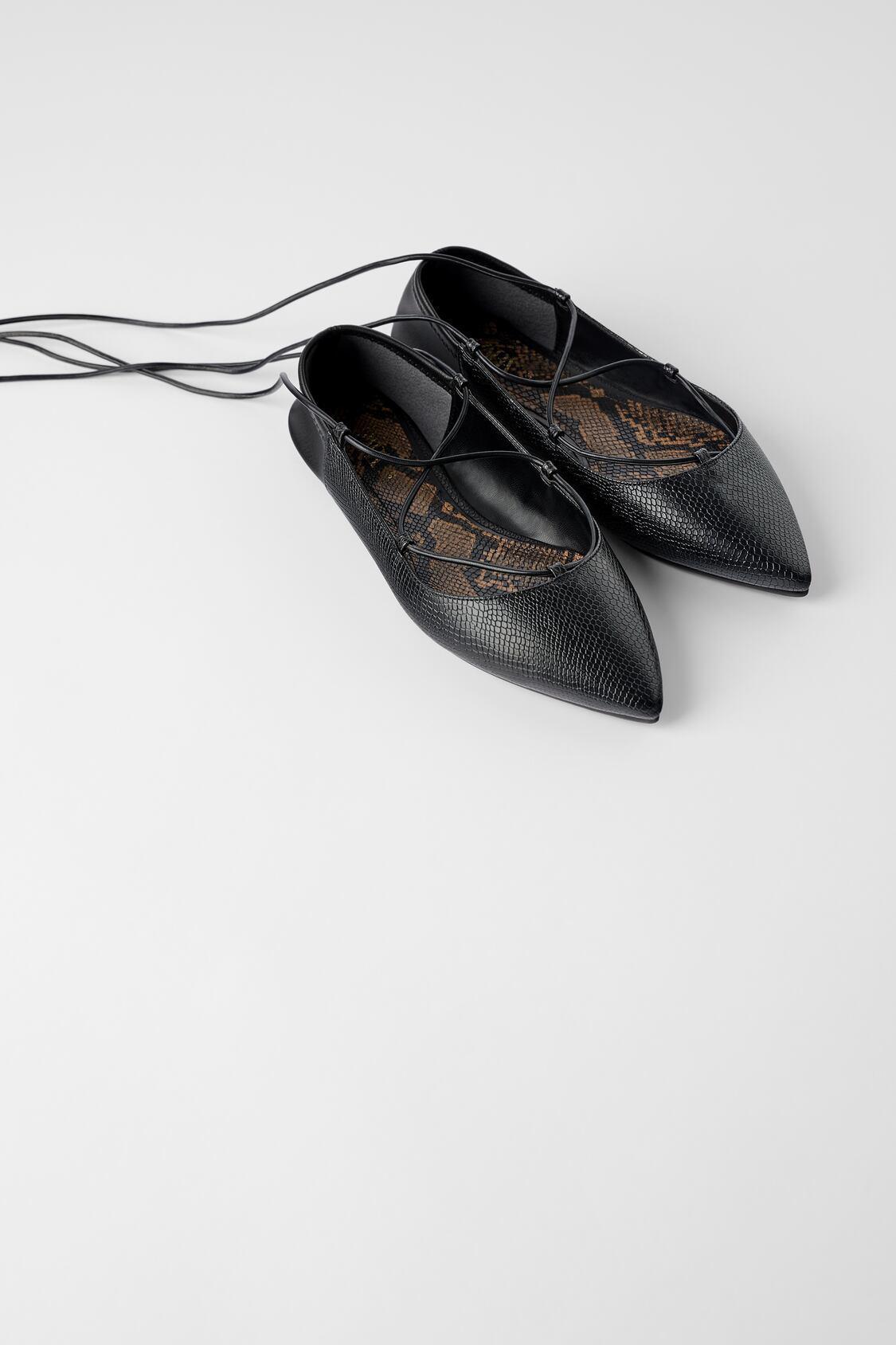 Отзыв на СВЯЗЫВАННАЯ балетки с ANIMALPRINT из Интернет-Магазина Zara