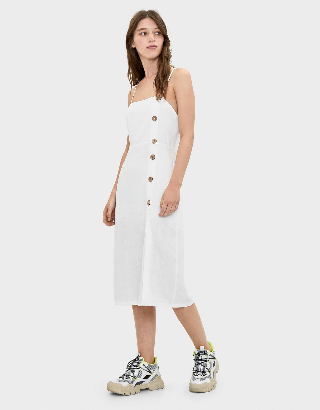 Отзыв на Платье миди с Кнопками из Интернет-Магазина Bershka
