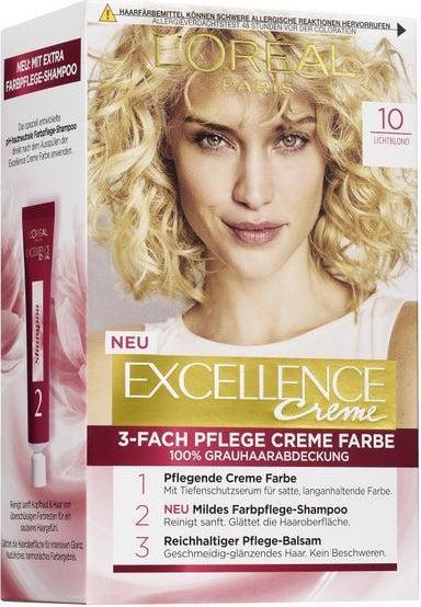 Отзыв на L'Oréal Paris Excellence Excellence Creme 10 lichtblond из Интернет-Магазина ROSSMANN