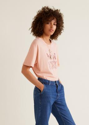 Отзыв на Besticktes Baumwoll-T-Shirt из Интернет-Магазина MANGO Outlet