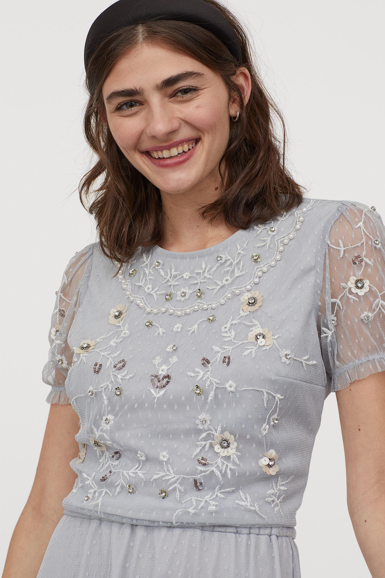 Отзыв на Verziertes Meshshirt из Интернет-Магазина H&M