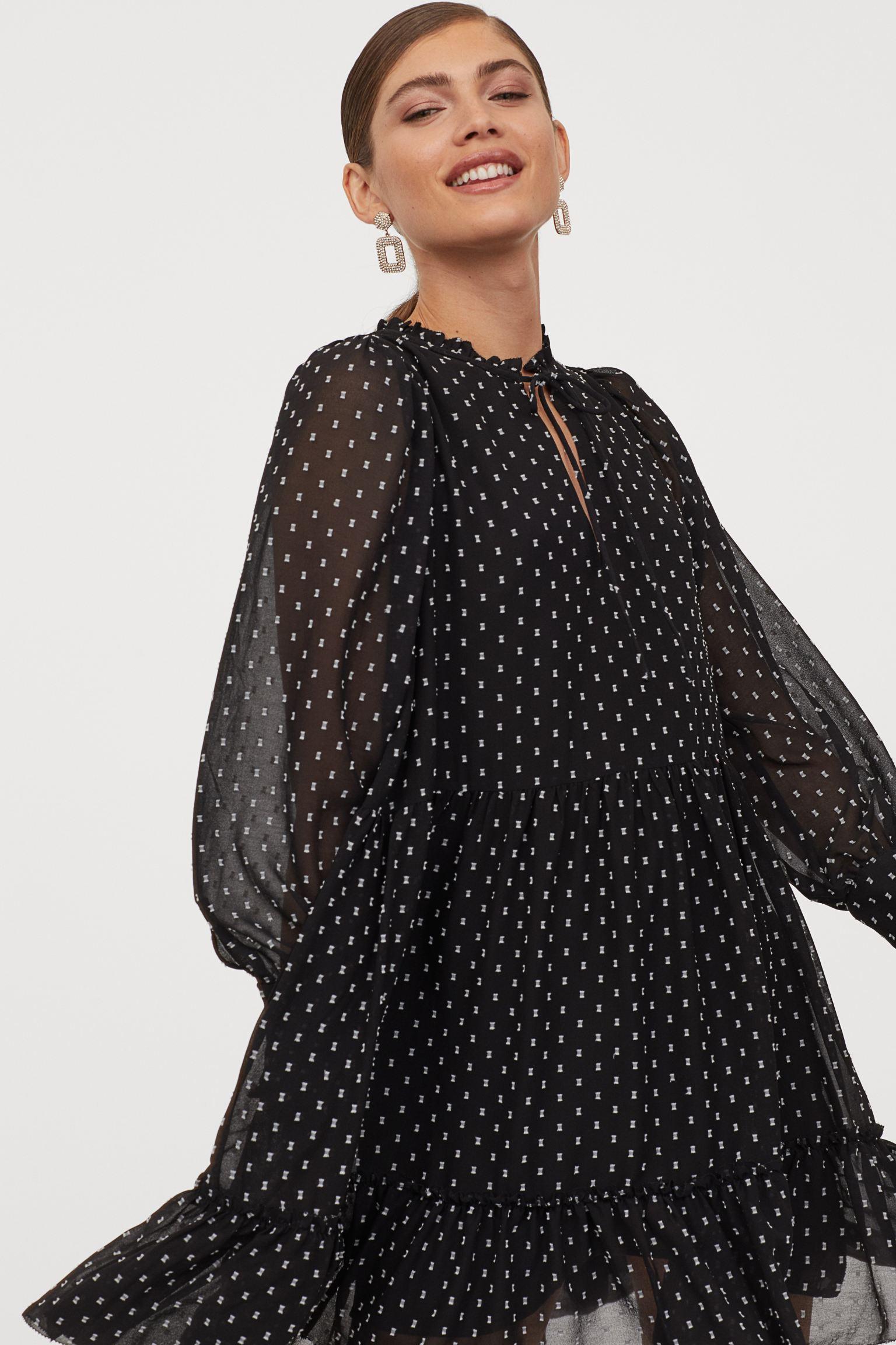 Отзыв на Широкий Шифоновое платье из Интернет-Магазина H&M