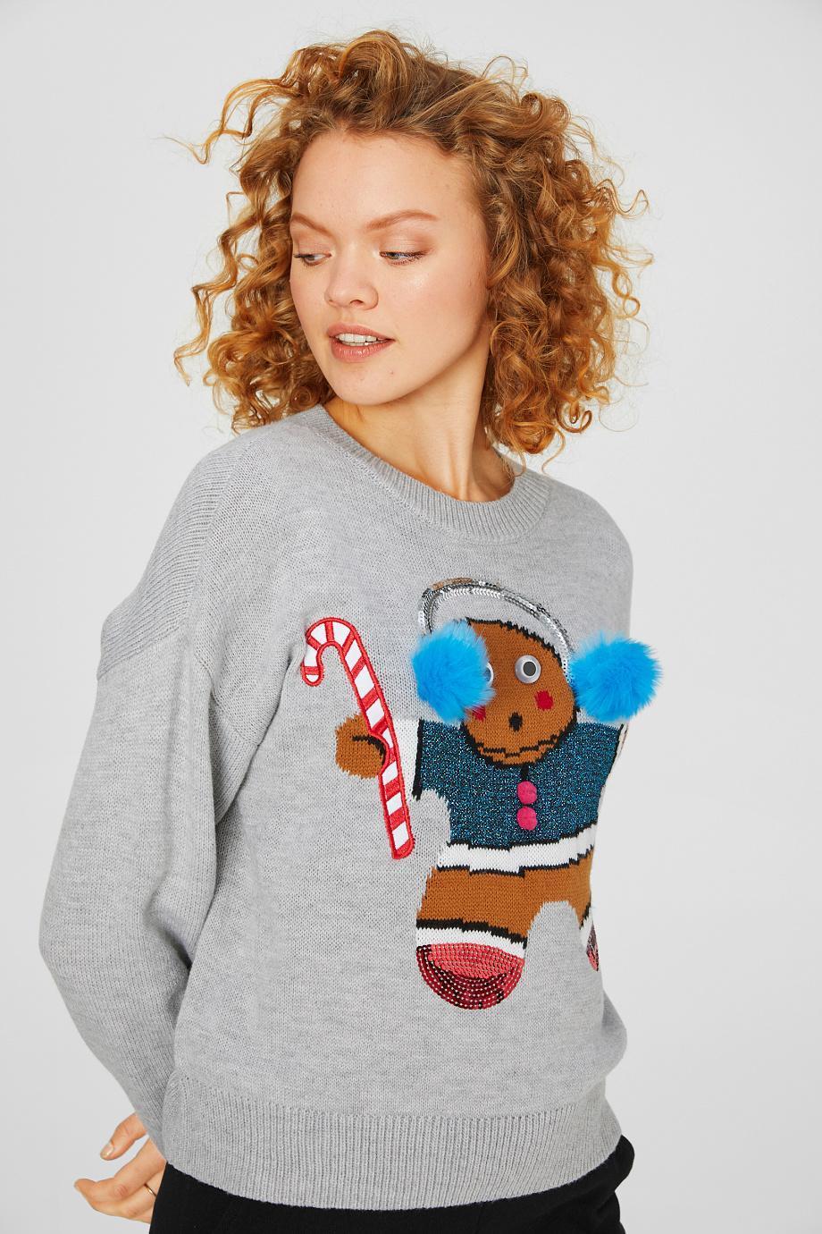 Отзыв на Свитер с рождественским рисунком - Блеск Эффект из Интернет-Магазина C&A