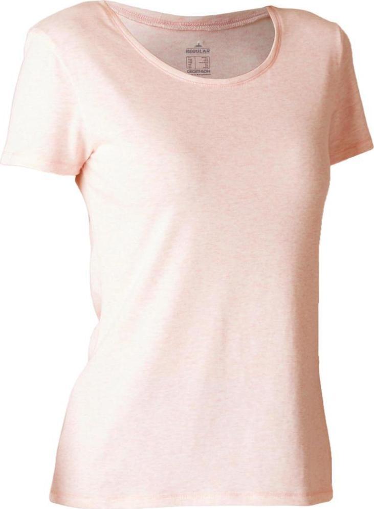 Отзыв на Футболка нормальные 500 Тренажерный зал & Пилатес для женщин светло-розовый из Интернет-Магазина Decathlon