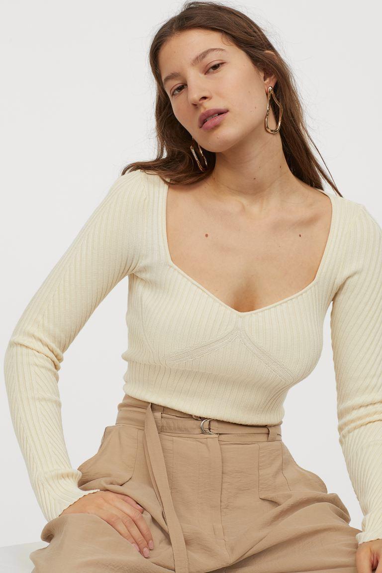 Отзыв на Полосатый пуловер из Интернет-Магазина H&M