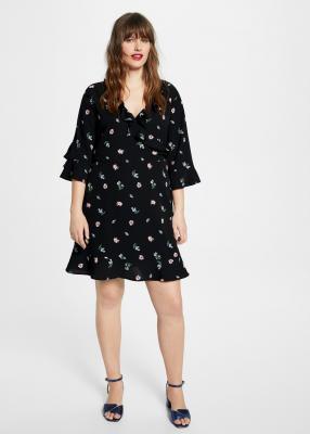 Отзыв на Цветочный узор платье на запах из Интернет-Магазина MANGO Outlet