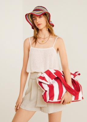 Отзыв на Большая сумка для покупок с полосами из Интернет-Магазина MANGO Outlet