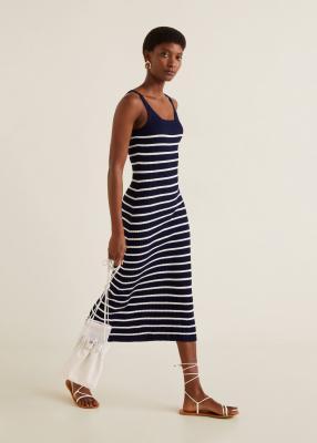 Отзыв на Midi-Платье с Рисунком ребра из Интернет-Магазина MANGO Outlet