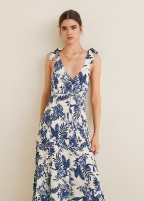 Отзыв на Длинное платье с цветочным узором из Интернет-Магазина MANGO Outlet