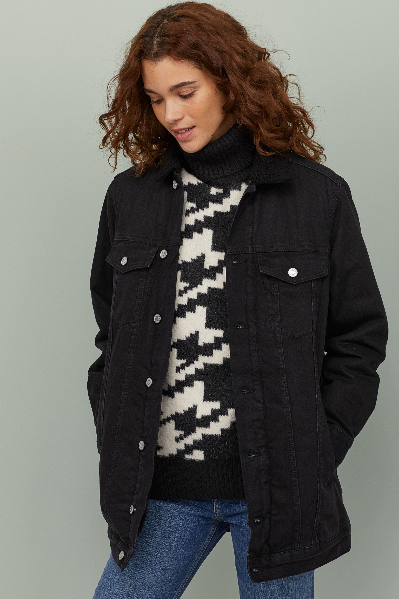 Отзыв на Джинсовая куртка на меховой подкладке из Интернет-Магазина H&M