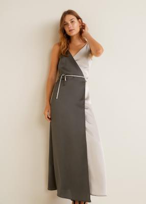 Отзыв на Двухцветное платье на запах из Интернет-Магазина MANGO Outlet