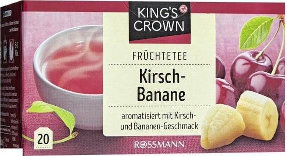 Отзыв на King's Crown Früchtetee Kirsch-Banane из Интернет-Магазина ROSSMANN