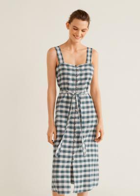 Отзыв на Платье с Vichy-Karo Узор из Интернет-Магазина MANGO Outlet