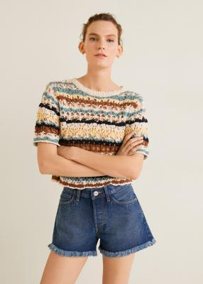 Отзыв на Темный Джинсовые шорты из Интернет-Магазина MANGO Outlet