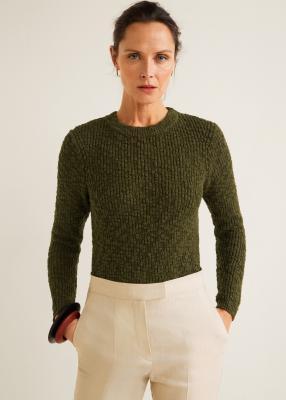 Отзыв на Пуловер с Отверстие трюк узор из Интернет-Магазина MANGO Outlet