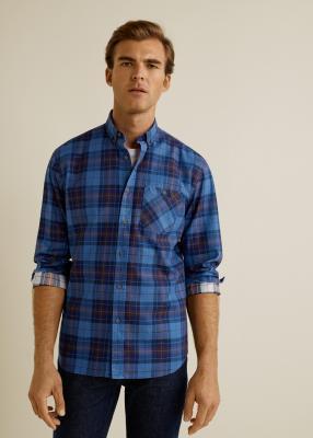 Отзыв на Плед нормальные Fit Хлопок Рубашка из Интернет-Магазина MANGO Outlet