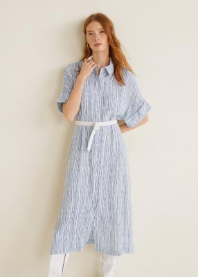 Отзыв на С принтом полосатое платье из Интернет-Магазина MANGO Outlet