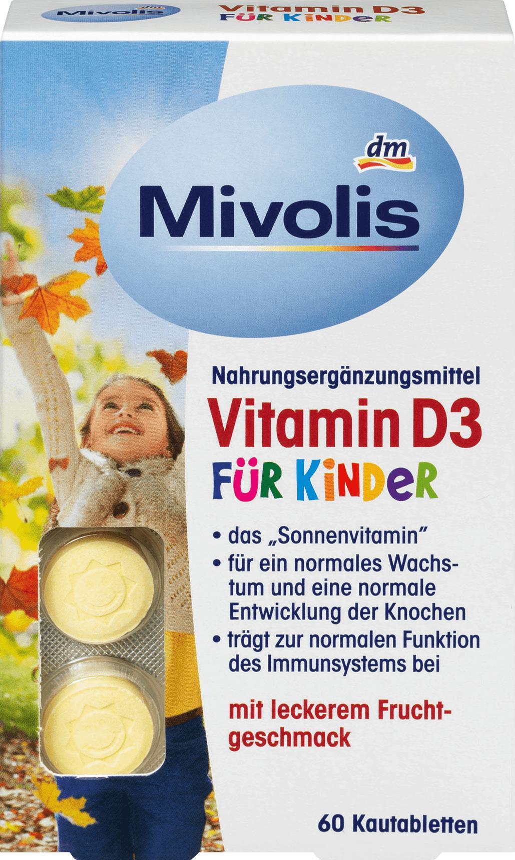 Отзыв на Vitamin D3 für Kinder, Kautabletten 60 St., 51 g из Интернет-Магазина DM