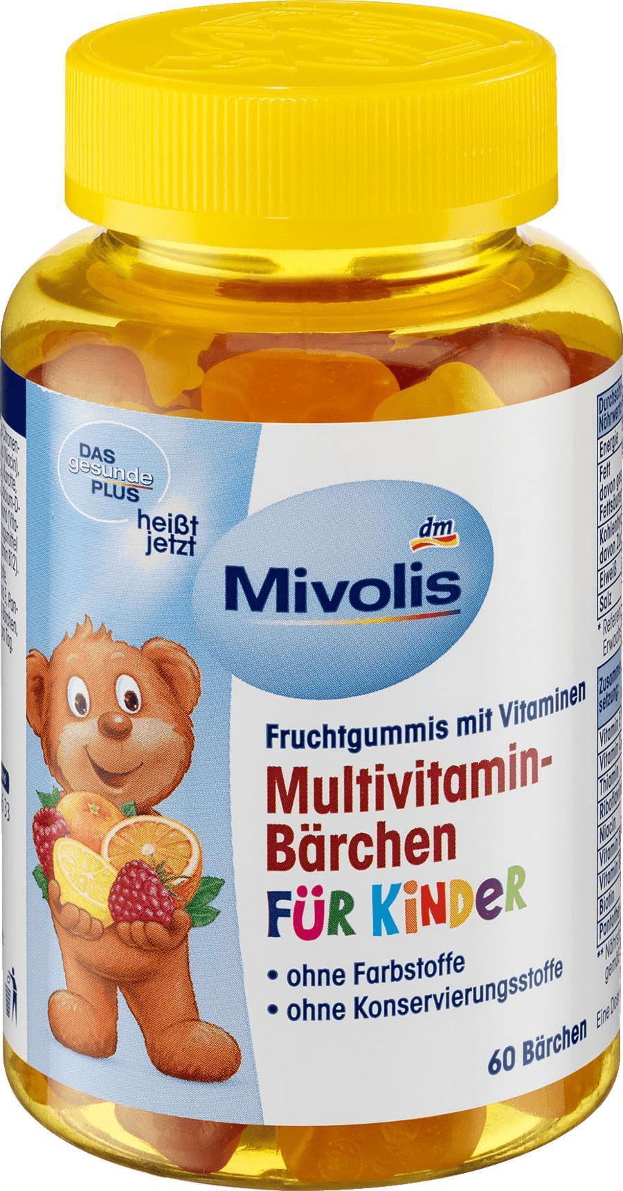 Отзыв на Multivitamin-Bärchen für Kinder, Fruchtgummis, 120 g из Интернет-Магазина DM