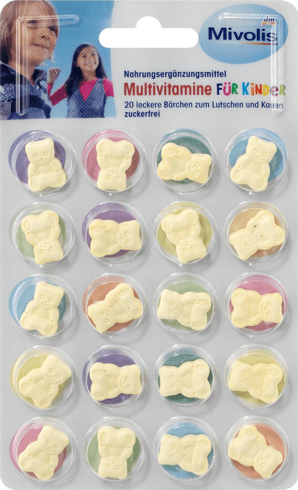 Отзыв на Multivitamine für Kinder, Lutschtabletten 20 St., 14 g из Интернет-Магазина DM
