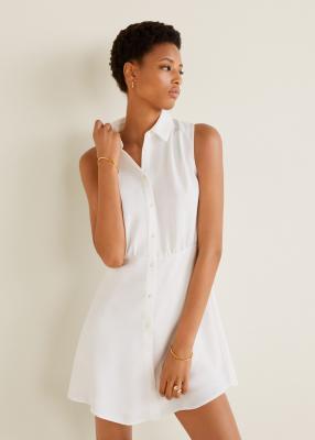 Отзыв на Расклешенное платье-рубашка из Интернет-Магазина MANGO Outlet