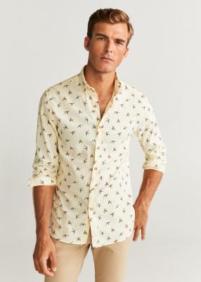 Отзыв на С пестрым рисунком Slim Fit-Рубашки с хлопка из Интернет-Магазина MANGO Outlet