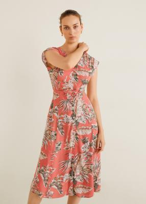 Отзыв на С пестрым рисунком Midi-Платье из Интернет-Магазина MANGO Outlet