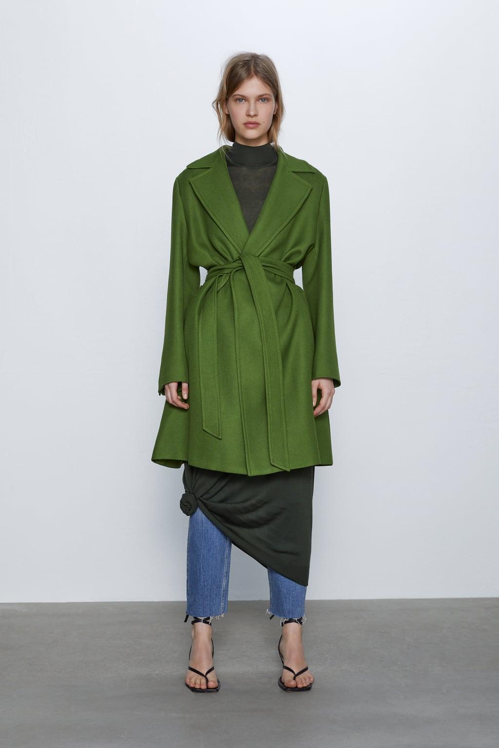 Отзыв на Пальто с поясом из Интернет-Магазина Zara