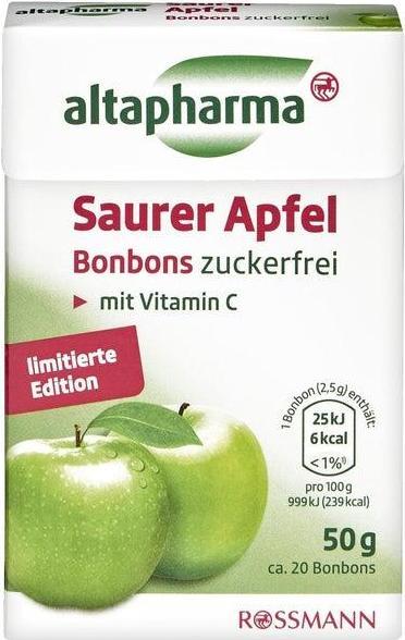 Отзыв на altapharma Saurer Apfel Bonbons из Интернет-Магазина ROSSMANN
