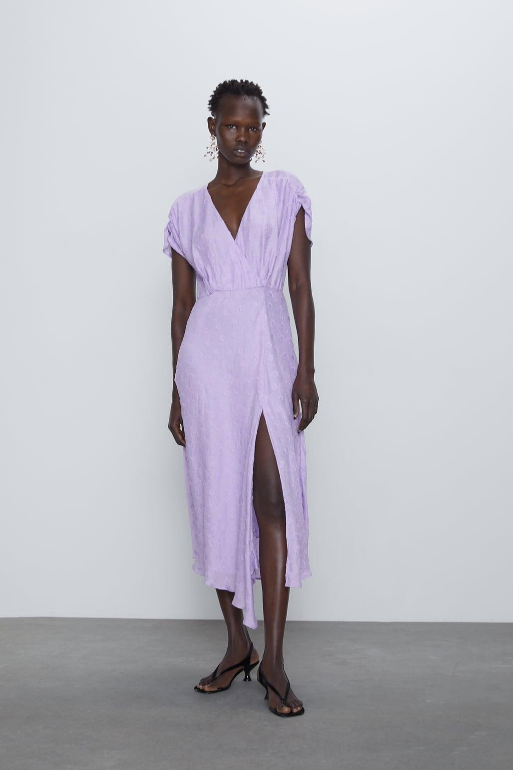 Отзыв на Платье миди со структурным узором из Интернет-Магазина Zara