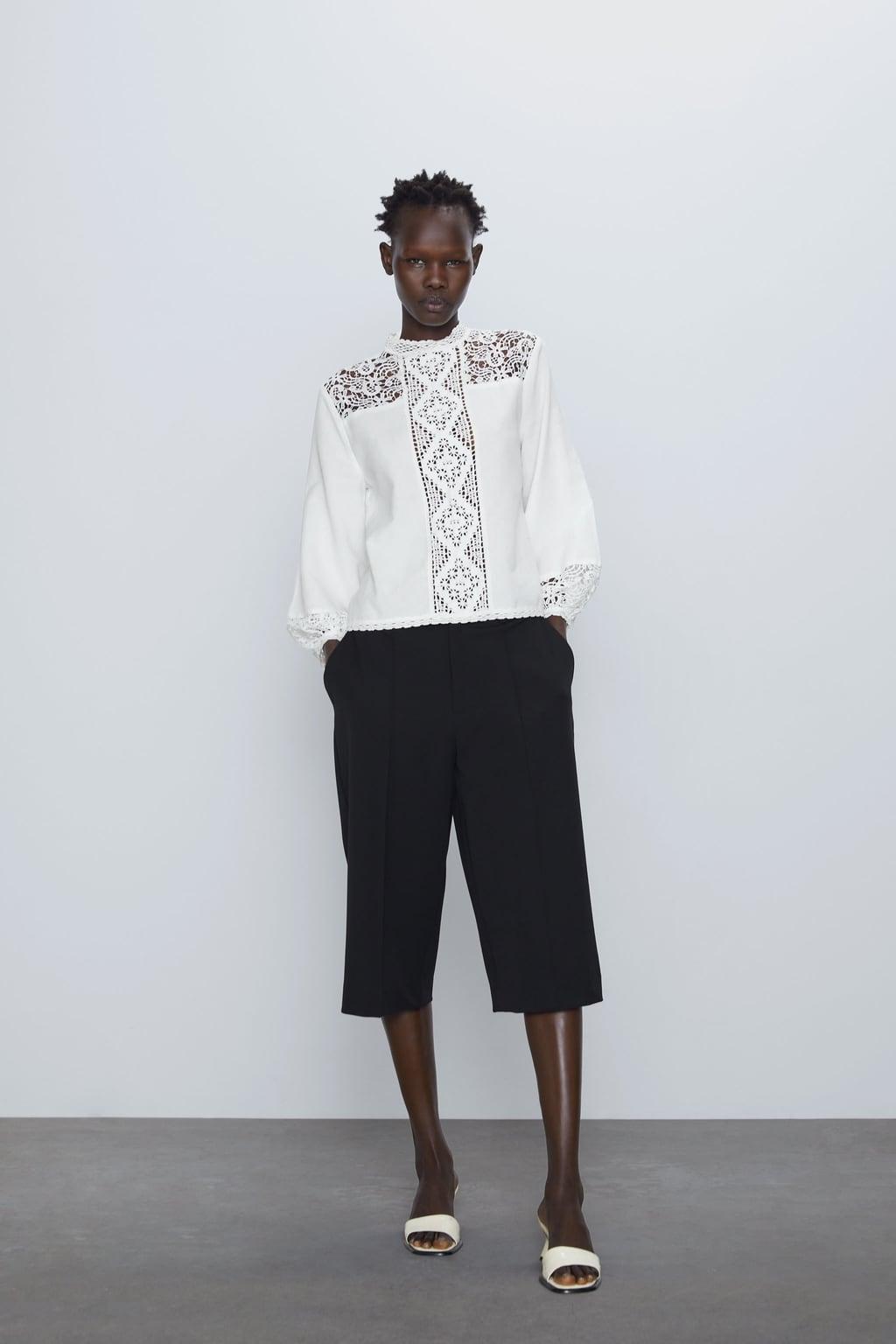 Отзыв на КОМБИНИРОВАННОЕ рубашка с кружевом из Интернет-Магазина Zara