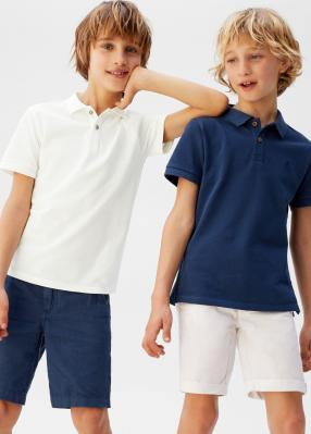 Baumwoll-Poloshirt
