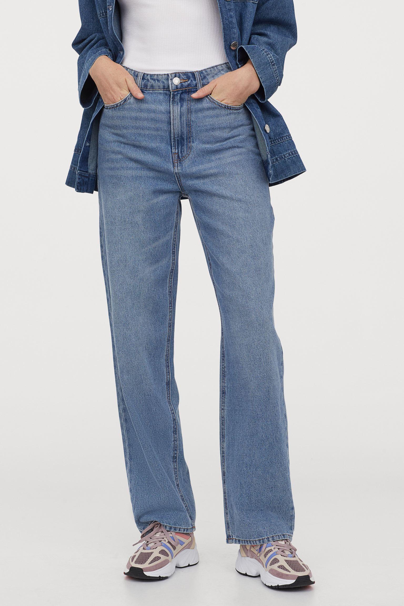 Отзыв на Свободные ровные джинсы с высокой талией из Интернет-Магазина H&M