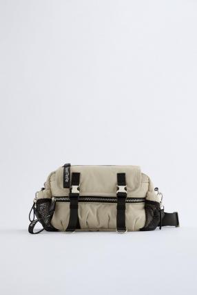 CROSSBODY BAG WITH SLOGAN PULL TAB