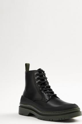 LACE-UP BOOTS WITH CONTRAST SOLES